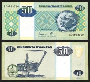 ANGOLA .n146a - 50 KWANZAS 'Agostinho Neto / José E. Santos' (1999) NOVA