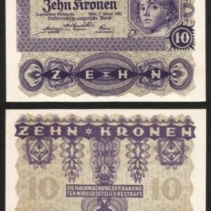 AUSTRIA .n075 - 10 KRONEN (1922) QNOVA