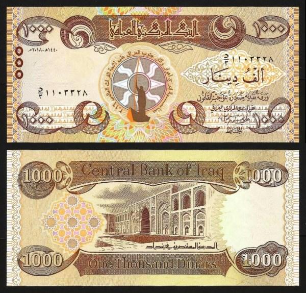 IRAQUE .nv1 (IRAQ) - 1.000 DINARES CMM (2018) NOVA