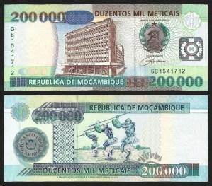 MOÇAMBIQUE .n141 (MOZAMBIQUE) - 200.000 METICAIS (2003) NOVA… Rara 1
