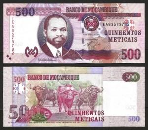 MOÇAMBIQUE .n153a (MOZAMBIQUE) - 500 METICAIS 'Samora Machel' (2011) QNOVA… Esc.