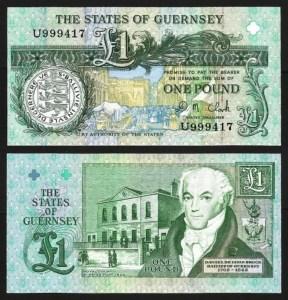 GUERNSEY .n52c - 1 LIBRA (1991-) NOVA 1