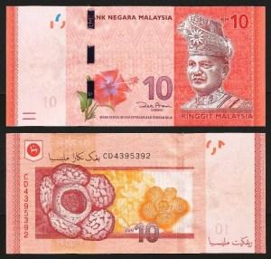 MALÁSIA .n53a (MALAYSIA) - 10 RINGGIT (2011) NOVA