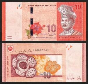 MALÁSIA .n53b (MALAYSIA) - 10 RINGGIT (2011-) NOVA