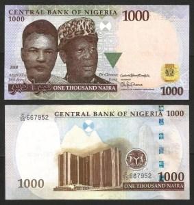 NIGÉRIA .n36 - 1.000 NAIRA (2018) NOVA