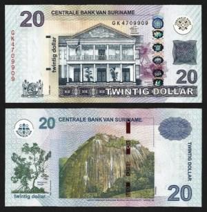 SURINAME .n164b - 20 DOLLARS (2012) NOVA… Esc.