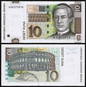 CROÁCIA .n38 (CROATIA) - 10 KUNA (2001) NOVA