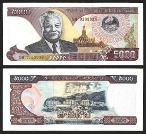 LAOS .n34b (LAO) - 5.000 KIP (2003) NOVA