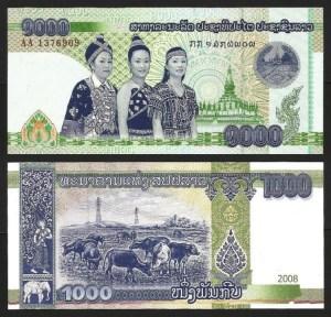 LAOS .n39 (LAO) - 1.000 KIP (2008) NOVA 1