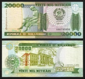 MOÇAMBIQUE .n137y (MOZAMBIQUE) - 20.000 METICAIS (1999) NOVA… Esc.