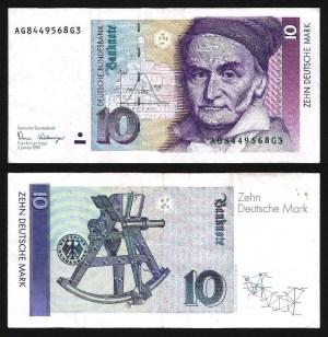 ALEMANHA FEDERAL / RFA .n38a (GERMANY FED. REP.) - 10 MARCOS (1989) CIRC… Esc.