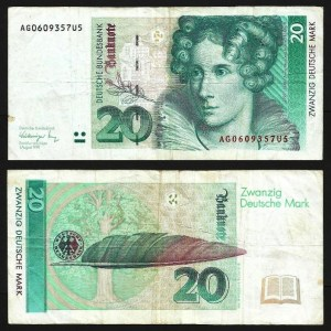 ALEMANHA FEDERAL / RFA .n39a (GERMANY FED. REP.) - 20 MARCOS (1991) CIRC.