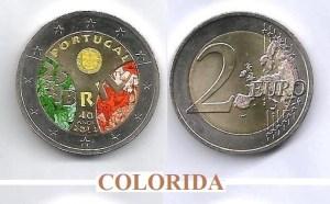 (K1171) MOEDA CC - 2,00 EURO '40º Aniv. do 25 de Abril' (2014) Bimetálica Colorida 1