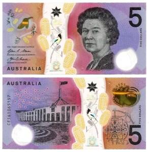 AUSTRÁLIA .n62 - 5 DOLLARS (2016) NOVA