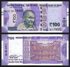 ÍNDIA .n112d - 100 RUPIAS 'Gandhi' (2018) NOVA