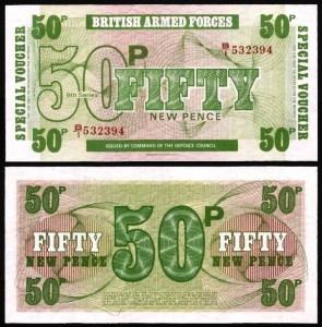 INGLATERRA FA .n49 (GREAT BRITAIN MILITARY) - 50 NEW PENCE (1972) NOVA