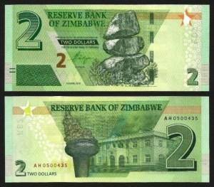 ZIMBABUÉ .n099b (ZIMBABWE) - 2 DOLLARS (2019) NOVA