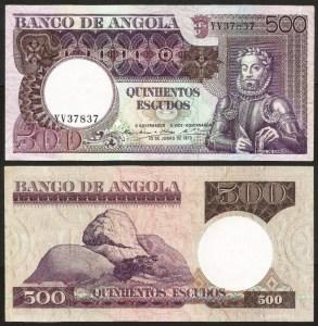 ANGOLA (26)2 - 500 ESCUDOS 'Luis Camões' (1973) BELA