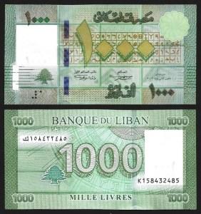 LIBANO .n90c (LEBANON) - 1.000 LIVRES (2016) NOVA