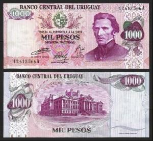 URUGUAI .n52 (URUGUAY) - 1.000 PESOS (1974) NOVA… Esc.