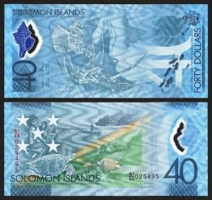 ILHAS SALOMÃO .n37 (SOLOMON ISLANDS) - 40 DOLLARS CMM (2018) NOVA... Esc.