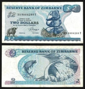 ZIMBABUÉ .n001b (ZIMBABWE) - 2 DOLLARS (1983) CIRC… Esc.