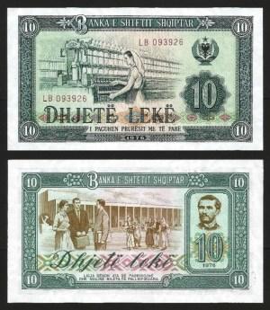 ALBÂNIA .n43 (ALBANIA) - 10 LEKE (1976) NOVA 1