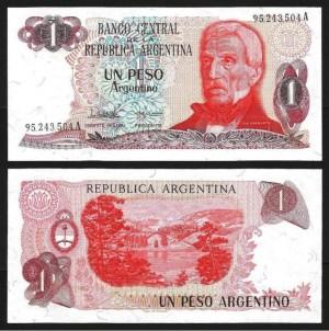 ARGENTINA .n311a-2 - 1 PESO 'J. San Martin' (1983/84) NOVA