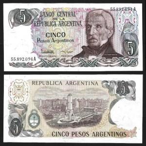 ARGENTINA .n312a-2 - 5 PESOS (1983/84) NOVA