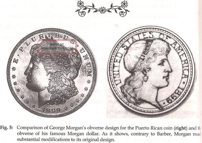 1899 Morgan Pattern For Puerto Rico 60 Cent Patron Silver