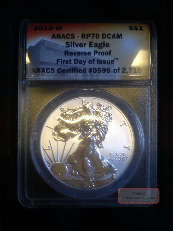 2013 Silver Eagle Reverse Proof Rp 70 Dcam Day Of