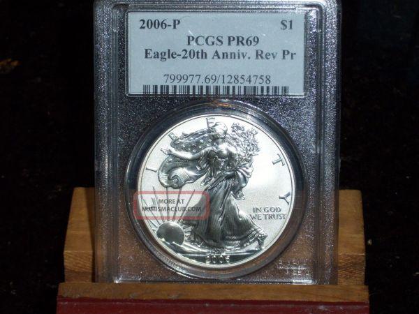 2006 - Silver Eagle Pcgs Pr69 20th Anniversary