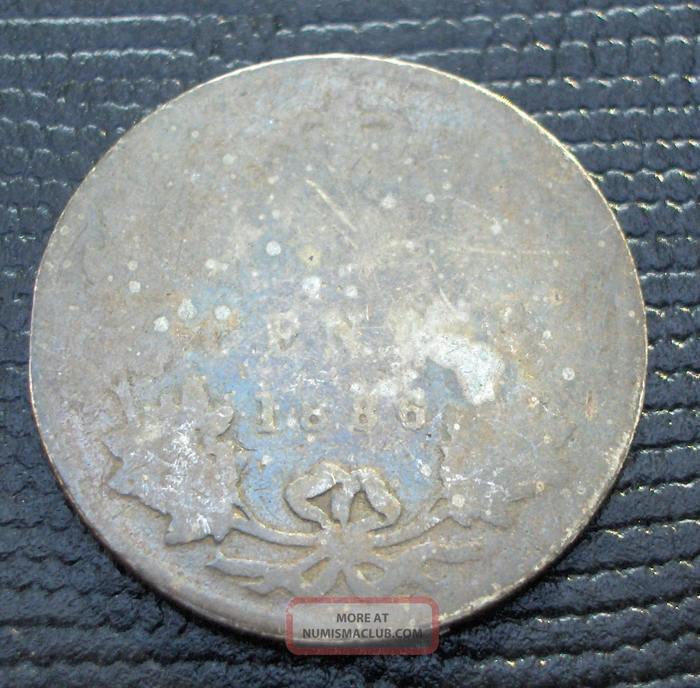 Rare 25 Cents Canada Silver Queen Victoria Low Grade Quarter