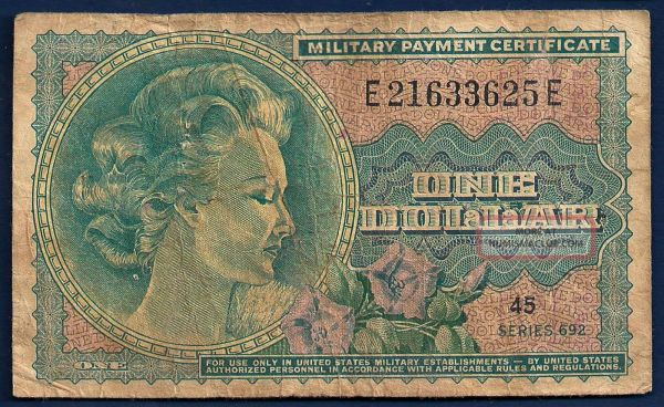 Old Military Paper Money Value - Year of Clean Water