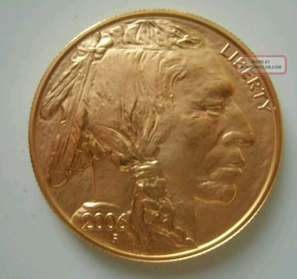 50 Dollar Gold Buffalo Coin Copy 2006 - Year of Clean Water