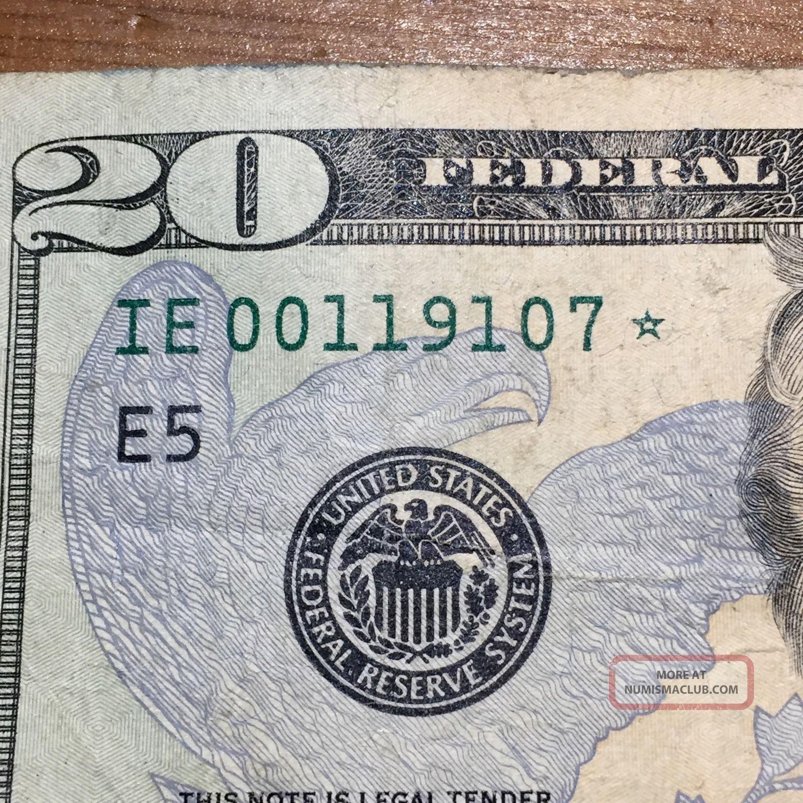 20 Star Bank Note Twenty Dollar Bill In Series Rare