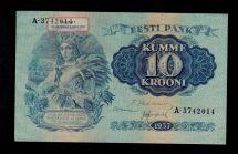 Estonia 10 Krooni 1937 Pick 67 Au - Unc Banknote