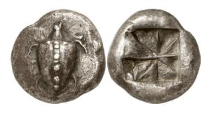 Attica – Isola di Aegina – AG statere 550-530 aC