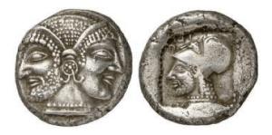 Tenedos – AG di dracma 550 – 470 aC