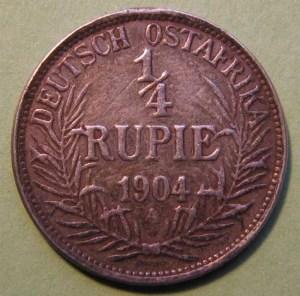 ¼ rupia ro