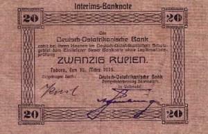 Banconota da 20 rupie A