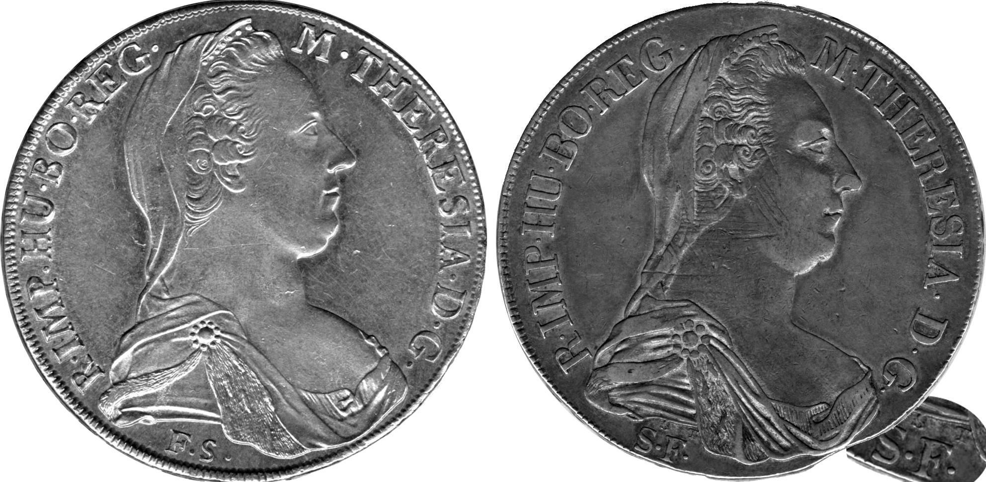e928dd6416 Figura 2: (a) a sinistra il rarissimo conio per Venezia con le lettere F. e  S. invertite, la firma non era autorizzata e i talleri coniati furono  ritirati e ...