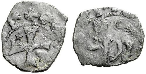 Figura 2: Un denaro piccolo con il simbolo dello zecchiere Domenico Ghirardini.
