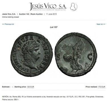Nero fake Jesus Vico