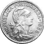 moeda de 1 escudo no estado mbc