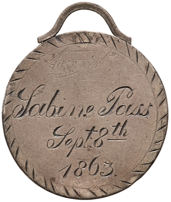 Reverse of Silver Decoration, Houston (Tex.), 1863. 1909.350.1