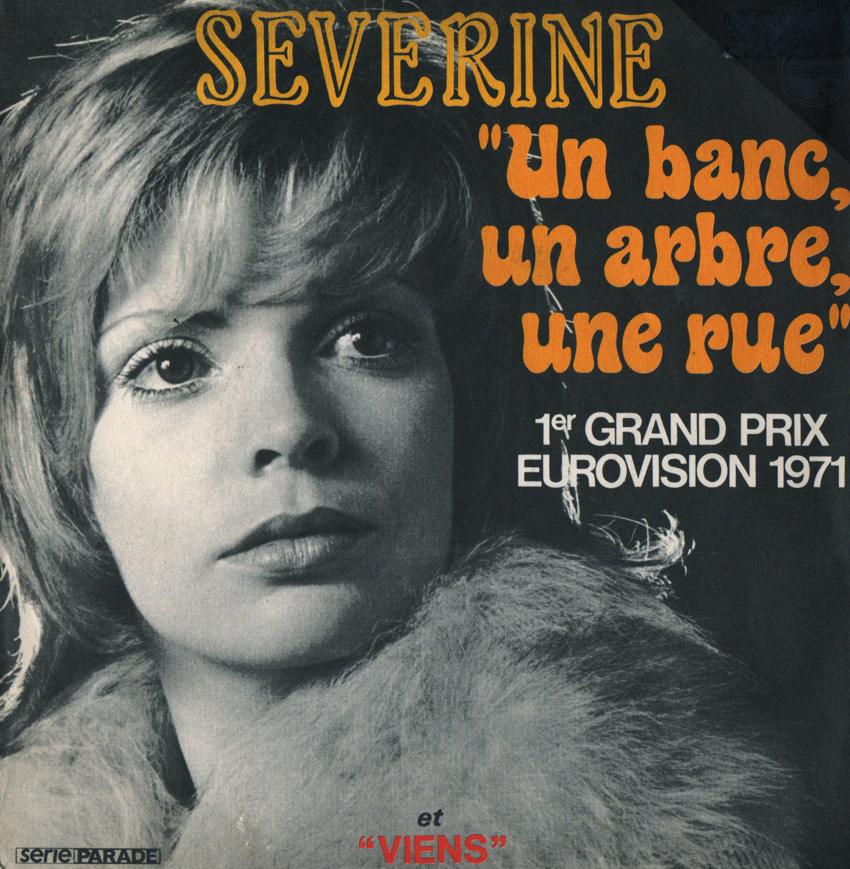 Severine Un Banc, Un Arbre, Une Rue  Eurovision 1971 #1