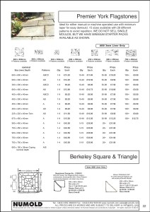 Numold - Moulds for Concrete Products - ABS Price List Page 22 - Premier York Flagstones