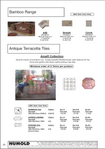 Numold - Moulds for Concrete Products - ABS Price List Page 29 - Terracotta Tiles