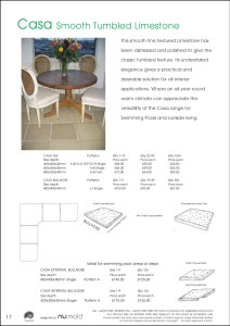 Numold - Moulds for Concrete Products - PU Price List Page 17 - Casa Smooth Limestone